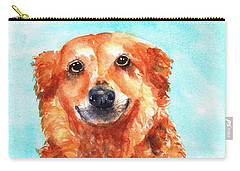 Red Golden Retriever Smile Carry-all Pouch
