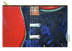 Red Guitar Carry-all Pouch