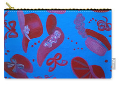 Red Hat Floor Cloth Carry-all Pouch by Judith Espinoza