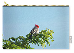 Red-headed Cardinal On A Branch Carry-all Pouch