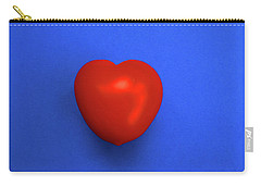 Red Heart Tomato On Blue Carry-all Pouch