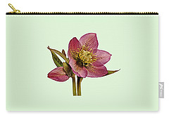 Red Hellebore Green Background Carry-all Pouch