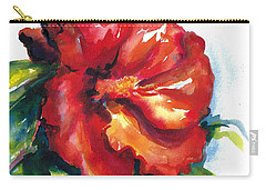 Fireball Red Hibiscus Carry-all Pouch