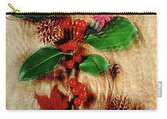 Red Holly Spinning Carry-all Pouch