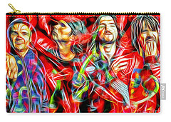 Red Hot Chili Peppers In Color II  Carry-all Pouch by Daniel Janda