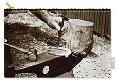 Red Hot Horseshoe On Anvil Carry-all Pouch