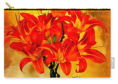 Red Hot Lilies Carry-all Pouch