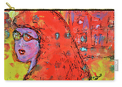 Carry-all Pouch featuring the painting Red Hot Summer Girl by Claire Bull