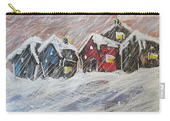 Red House In The Snow Carry-all Pouch