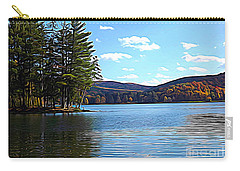 Red House Lake Allegany State Park In Autumn Expressionistic Effect Carry-all Pouch