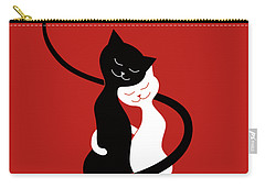 Red Hugging Love Cats Carry-all Pouch