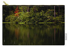 Carry-all Pouch featuring the photograph Red In Square by Parker Cunningham
