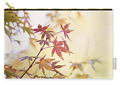 Carry-all Pouch featuring the photograph Red Japanese Maple Leaves by Cindy Garber Iverson