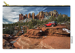Red Jeep On The Rocks Carry-all Pouch