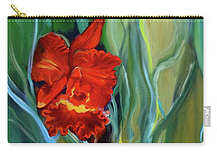 Red Jungle Orchid Carry-all Pouch