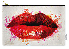Red Kiss Watercolor Carry-all Pouch