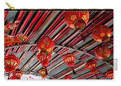 Carry-all Pouch featuring the photograph Red Lanterns 1 by Randall Weidner