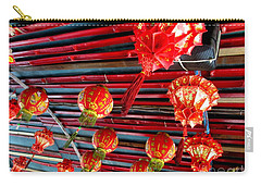 Carry-all Pouch featuring the photograph Red Lanterns 3 by Randall Weidner