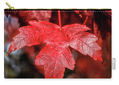 Carry-all Pouch featuring the photograph Red Leaf by Robert Bales