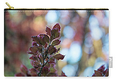 Red Leaves Abstract Carry-all Pouch by Mike Reid