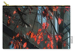 Carry-all Pouch featuring the photograph Red Leaves by Yulia Kazansky