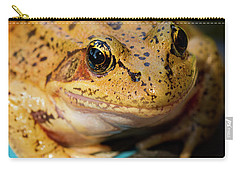 Carry-all Pouch featuring the photograph Red Leg Frog by Jean Noren
