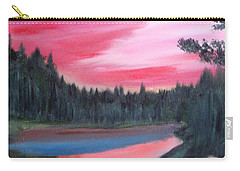 Red Sky Evening A Sailors Delight Carry-all Pouch
