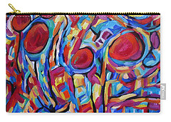 Carry-all Pouch featuring the painting Red Light Water Front by Dianne  Connolly