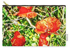 Red Like A Poppy Carry-all Pouch