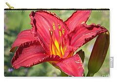 Carry-all Pouch featuring the photograph Red Flower by Eunice Miller