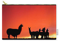 Red Llama Sunset 2 Carry-all Pouch