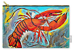 Red Lobster Abstract  Carry-all Pouch by Scott D Van Osdol