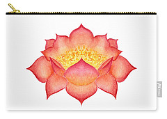 Carry-all Pouch featuring the painting Red Lotus by Elizabeth Lock