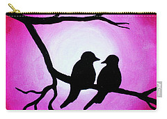Red Love Birds Silhouette Carry-all Pouch
