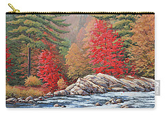 Red Maples, White Water Carry-all Pouch