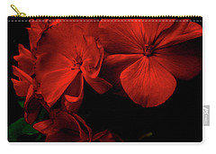 Red  Midnight Magic Flowers Carry-all Pouch