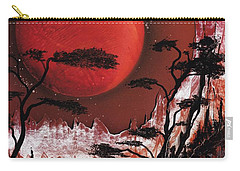 Carry-all Pouch featuring the painting Red Moon by Jason Girard