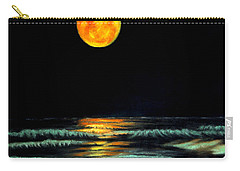 Carry-all Pouch featuring the pastel Red Moon Rising by Antonia Citrino
