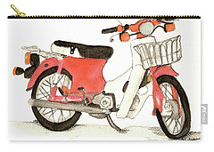 Red Motor Bike Carry-all Pouch