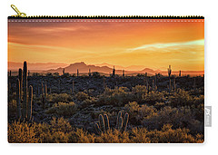 Carry-all Pouch featuring the photograph Red Mountain Sunset Part Two  by Saija Lehtonen