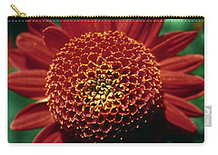 Red Mum Center Carry-all Pouch by Sally Weigand