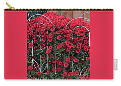 Red Mums Carry-all Pouch