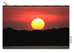 Red Myakka Sunset Carry-all Pouch by Myrna Bradshaw