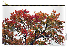 Carry-all Pouch featuring the photograph Red Orange Treetop by Ellen Barron O'Reilly