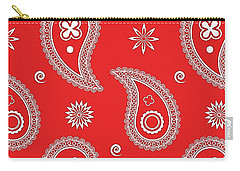 Red Paisley Carry-all Pouch