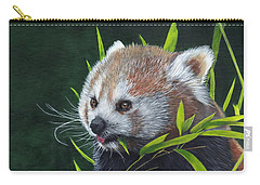 Carry-all Pouch featuring the painting Red Panda by John Neeve