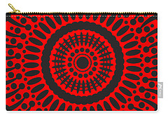 Carry-all Pouch featuring the digital art Red Passion by Lucia Sirna