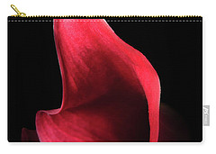 Red Passion On Black Carry-all Pouch by Joni Eskridge