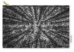 Red Pine Tree Tops In Black And White Carry-all Pouch