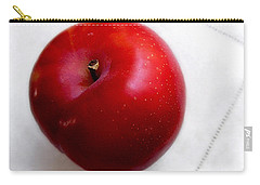 Red Plum On A White Cloth Carry-all Pouch